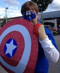 Shaun as Captain America